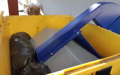 Kommunális hulladékelszállítási költségek drasztikus csökkentése – RC1100 konténerprés